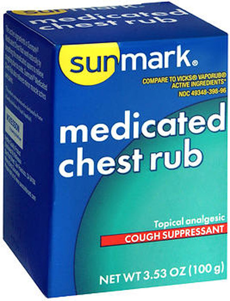 Sunmark Medicated Chest Rub - 3.5 oz