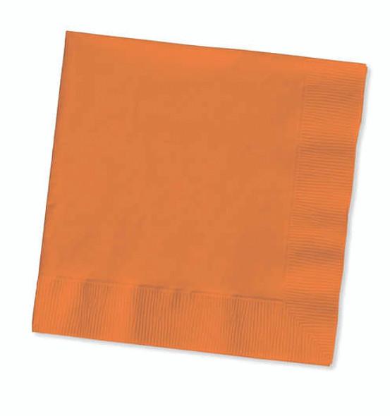 Solid Color Beverage Napkin - Sunkiss Orange, 50 ct