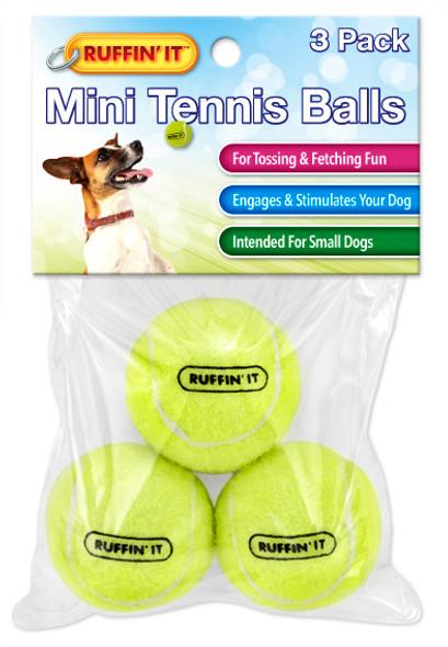 Ruffin It Small Tennis Balls Pet Toy - 3 pk