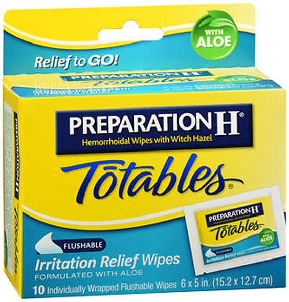 Preparation H Totables Irritation Relief Wipes - 10 Ct.