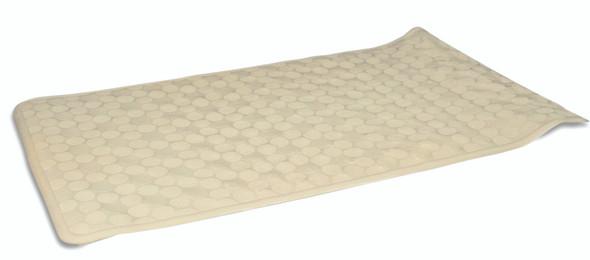 """Circles Bath Mat - White, 14 x 24"""""""