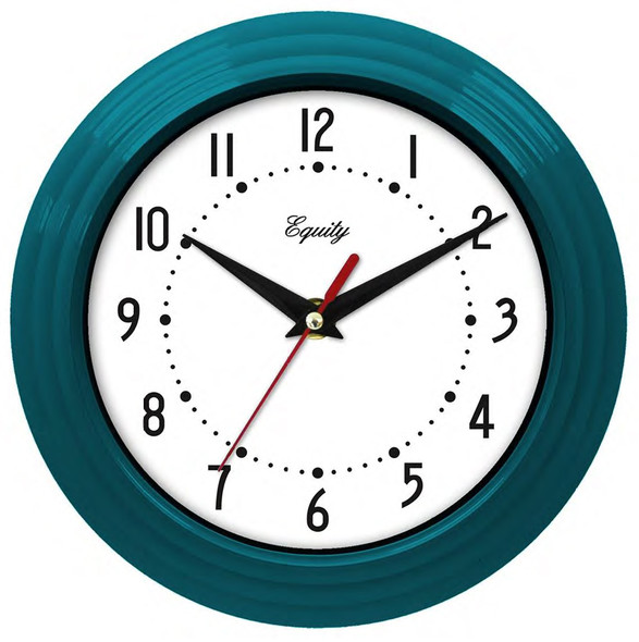 "Wall Clock - Teal Blue, 8"""