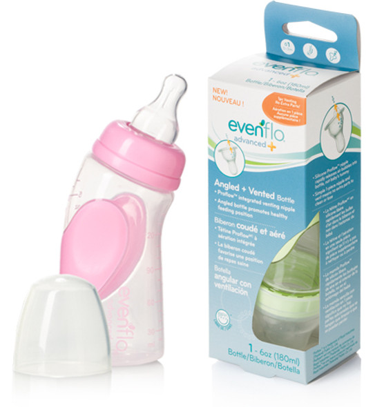 Angle Nurser Bottle - Clear, 6 oz
