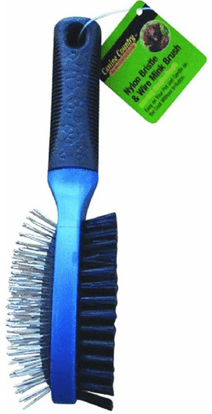Soft Grip Pin & Bristle Brush - Grey