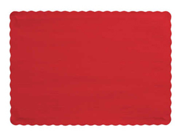 """Solid Color Placemat - Red, 9.5""""x14"""""""
