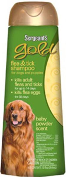 Gold Flea & Tick Dog & Puppy Shampoo - 12 oz