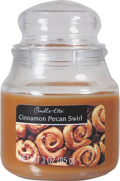 Candle-Lite Jar Candle - Cinnamon Pecan Swirl, 3 oz