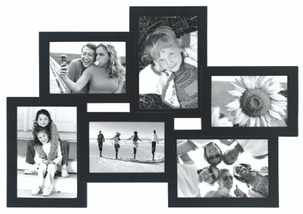 Crossroads Collage Frame - Black, 6 opening