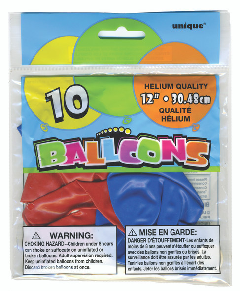 """Balloons - Red/White/Blue, 12"""""""
