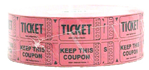 Double Roll Tickets - Qty 2000, Red