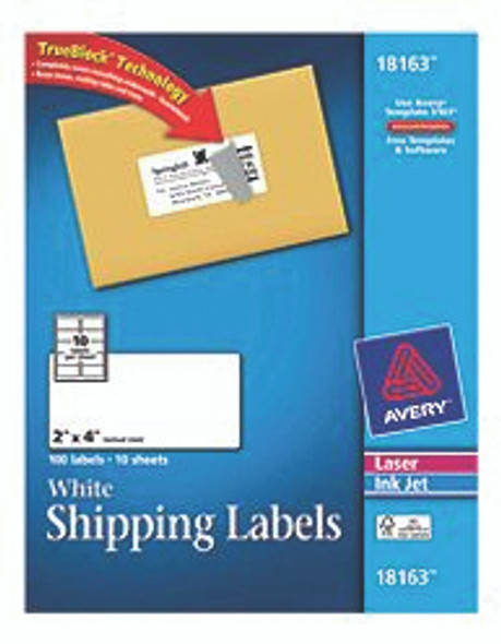 Avery Shipping Labels w/Trueblock - White, 2x4""