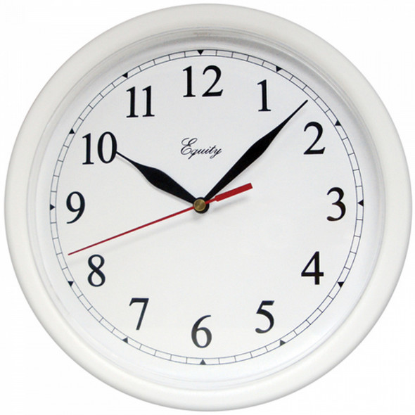 "Wall Clock - 10"", White"