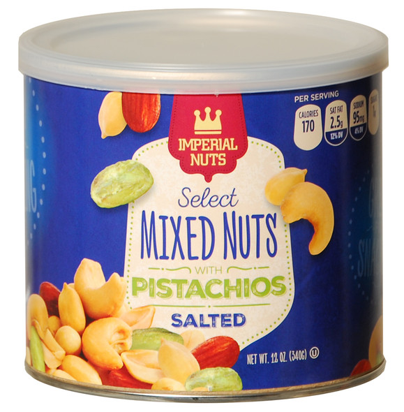 Imperial Mixed Nuts w/Pistachios - 12 oz