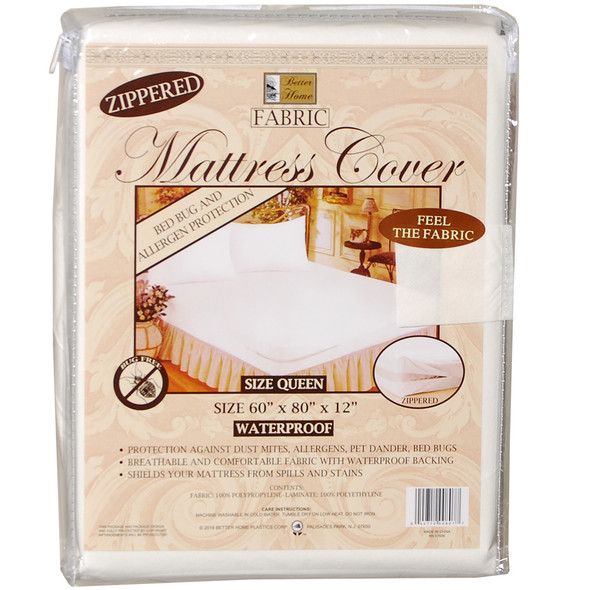 Fabric Mattress Cover Queen - Queen