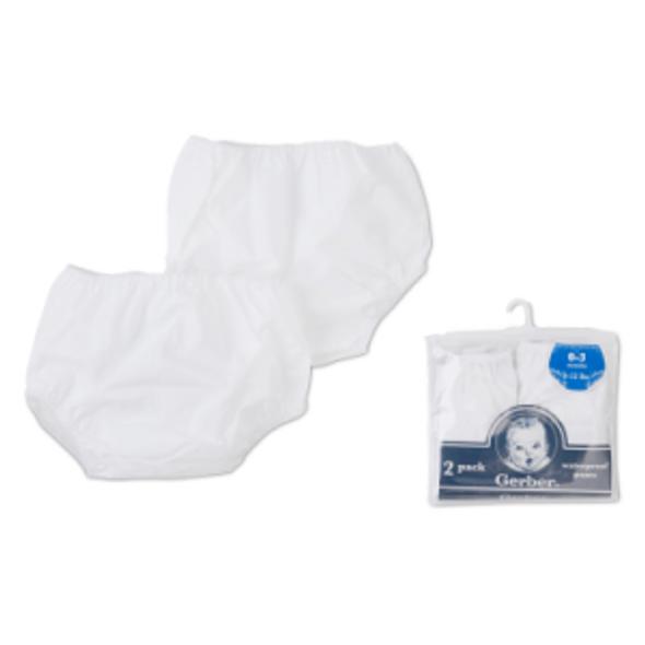 Pull-On Plastic Peva Pants-2 Pack Training - White, 6-9 mo