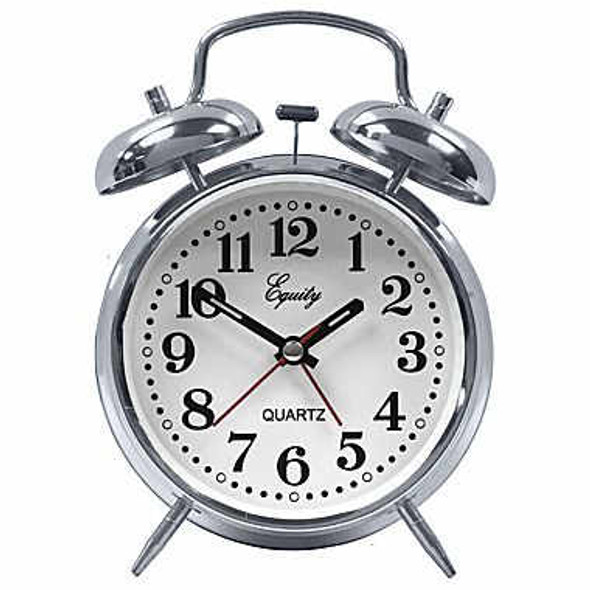 Quartz Analog Metal Twin Bell Alarm Clock