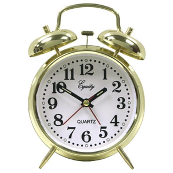 Keywind Twin Bell Brass Alarm Clock