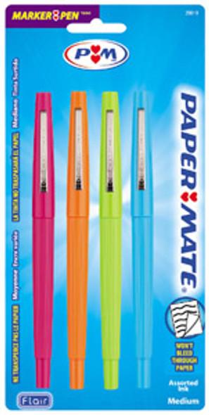 PaperMate Flair Fashion Pen - Asst, 4 ct