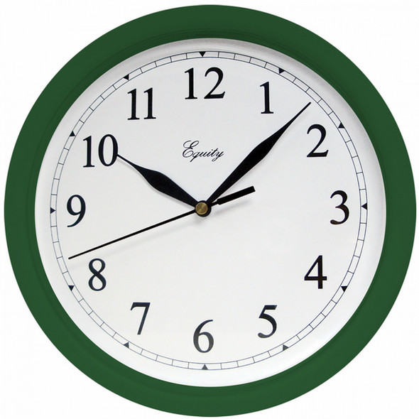 "Wall Clock - 10"", Hunter Green"