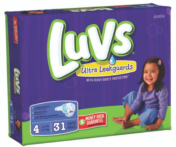 Luvs Convenience Pack Diapers 29ct - Size 4 (29 ct), 22-37 lb