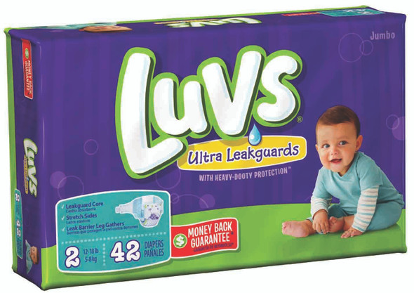Luvs Convenience Pack Diapers 40ct - Size 2 (40 ct), 12-18 lb