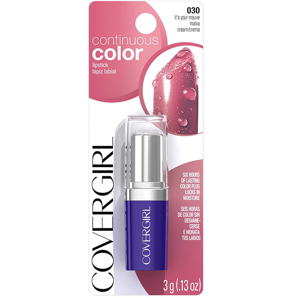 Cover Girl Continuous Color Lipstick - Size 30, It's Your Mauve