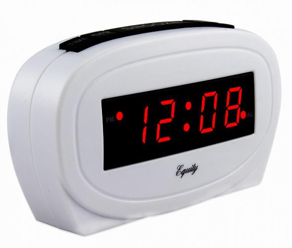 LED Alarm Clock - White