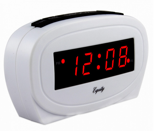 LED Alarm Clock - White