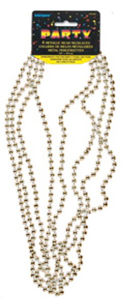 """Bead Necklace Party Favors - Silver, 32"""""""