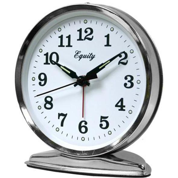 Wind Up Alarm Clock - Silver