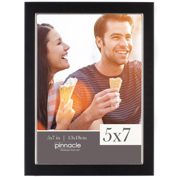 "Thin Black w/Silver Lip Frame - 5x7"""