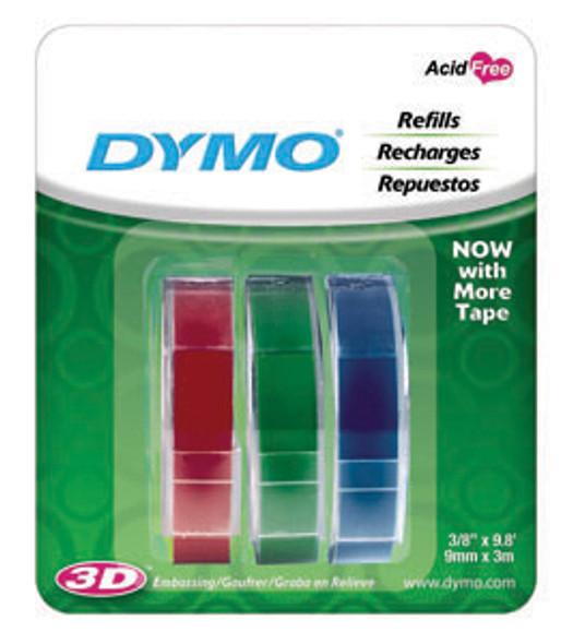 Dymo Embossing Tape - Black, 3ct