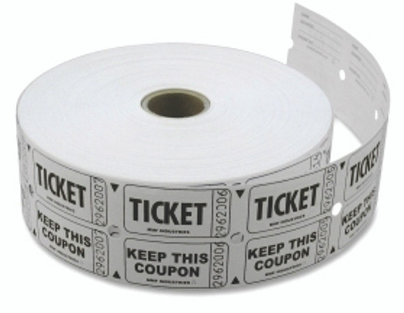 Double Roll Tickets - Qty 2000, White