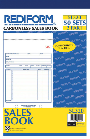 Sales Book - 50 ct