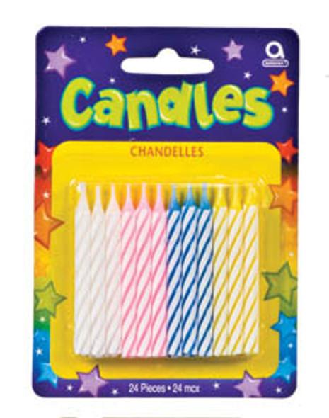 """Spiral Candles - Asst, 2.5"""""""