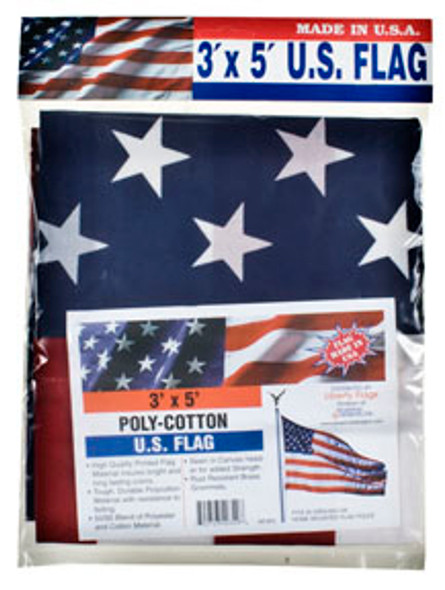 American Cotton Flag Replacement - Red/White/Blue, 3'x5'
