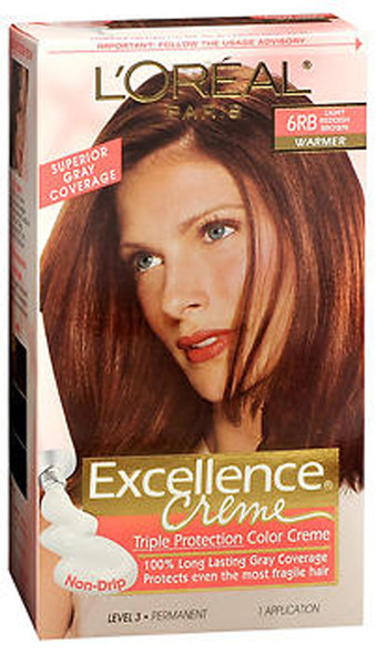 L'Oreal Excellence Creme - 6RB Light Reddish Brown (Warmer)