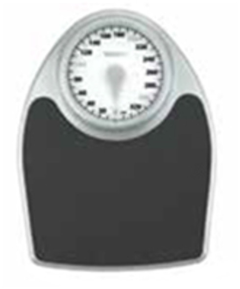 Extra-Large Dial Analog Precision Scale - Black/Silver