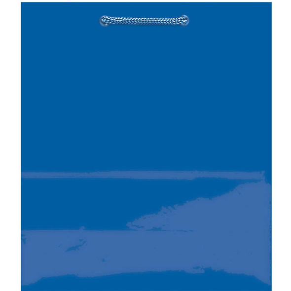 "Solid Glossy Jumbo Gift Bag - Bright Royal Blue, 17x12x6"""