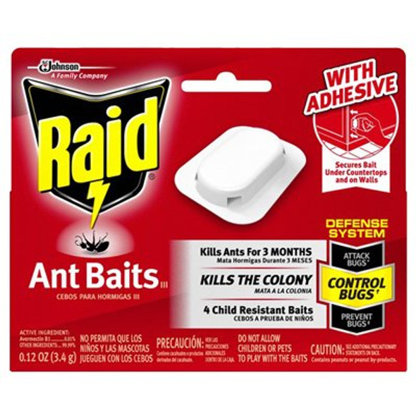 Raid Ant Bait - Red Box, 4 ct .12oz