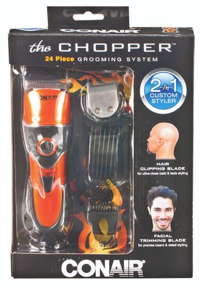 Conair 2-in-1 Chopper Clipper Trimmer For Hair & Facial Hair - Orange/Black, 24 pc