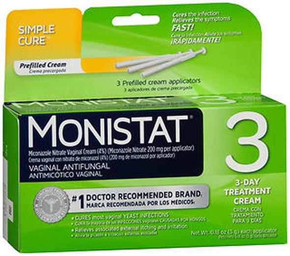 Monistat 3 Vaginal Antifungal Treatment Cream - 3 Each