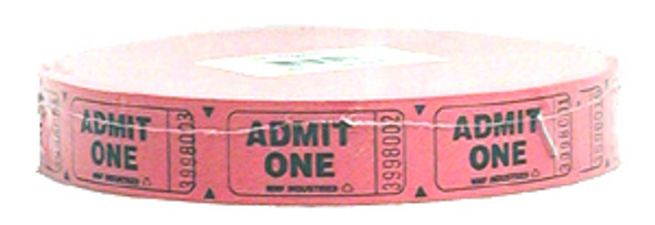 Single Roll Ticket - Qty 2000, Red