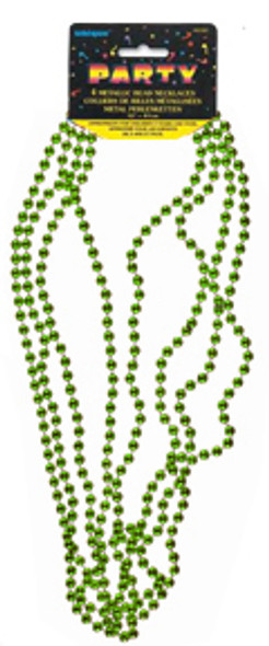 """Bead Necklace Party Favors - Green, 32"""""""
