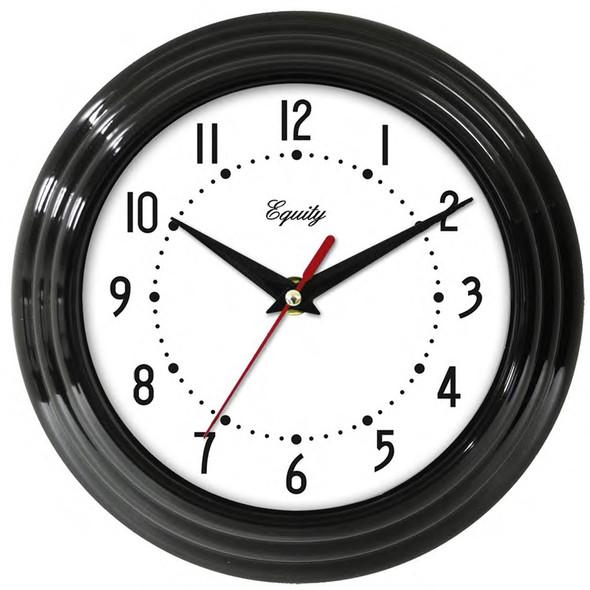 """Wall Clock - Black, 8"""""""
