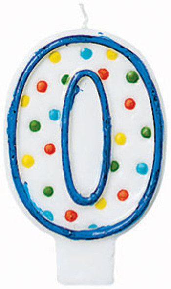 "Polka Dot Birthday Candles - #0, 3"""