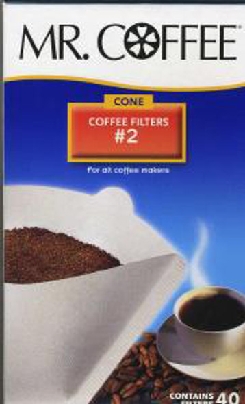 Mr. Coffee Filter -  #2 Cone, 4""