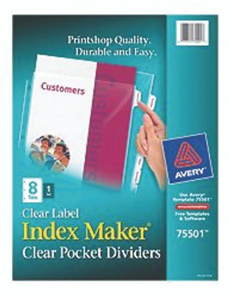 Index Maker Pocket Dividers - Clear, 8.5 x11