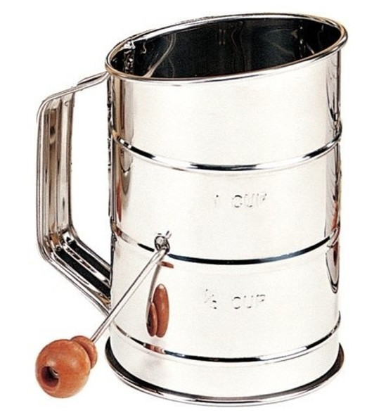 Mrs. Anderson's Crank Handle Sifter - Stainless Steel, 3 cup