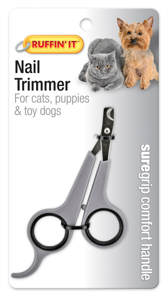 Comfort Grip Pet Nail Trimmer - Grey